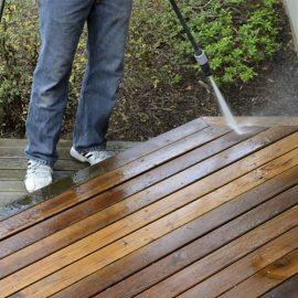 Clean Cedar Deck